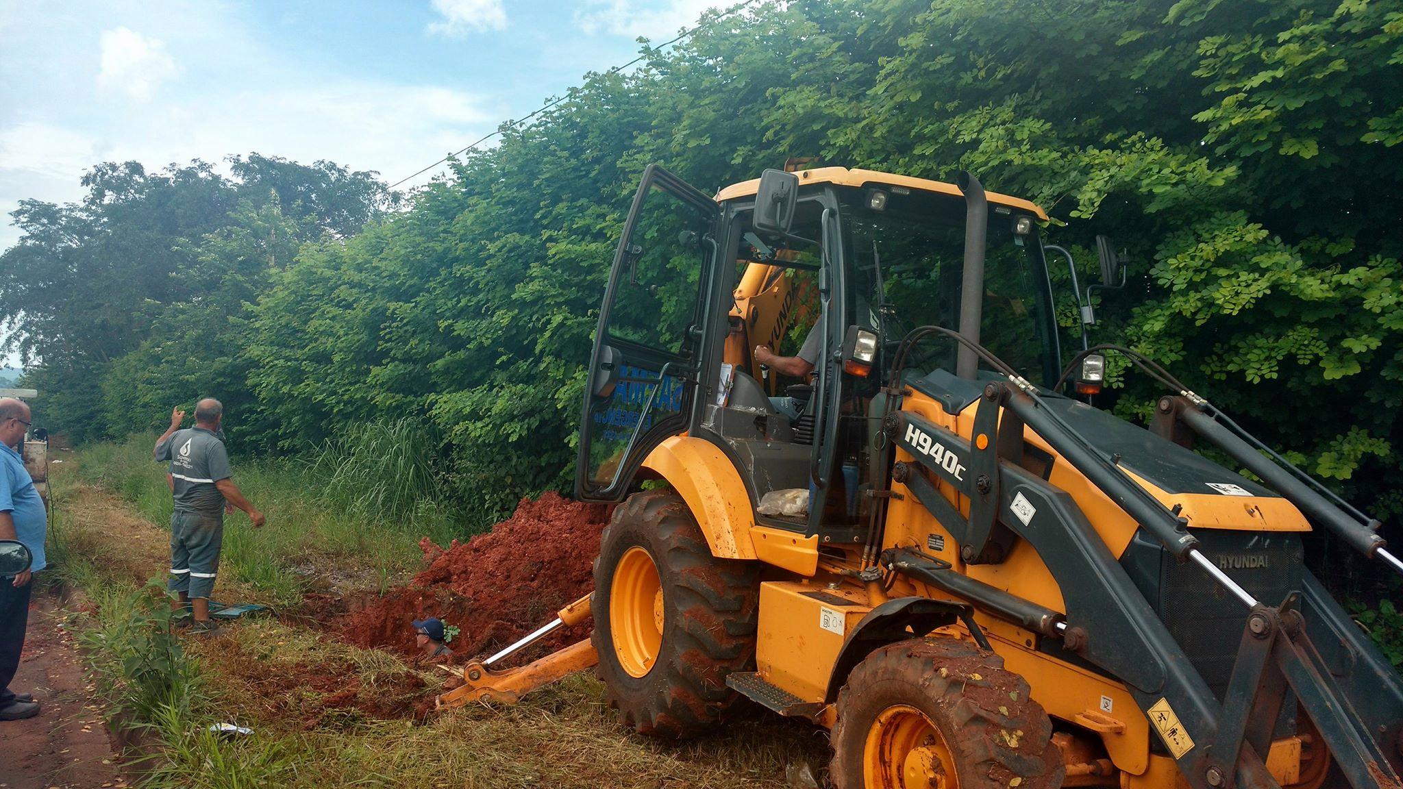 Saema realiza reparo na rede da represa Tambury
