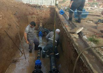 Avenida Ângelo Franzini recebe obra para melhoria no abastecimento de água